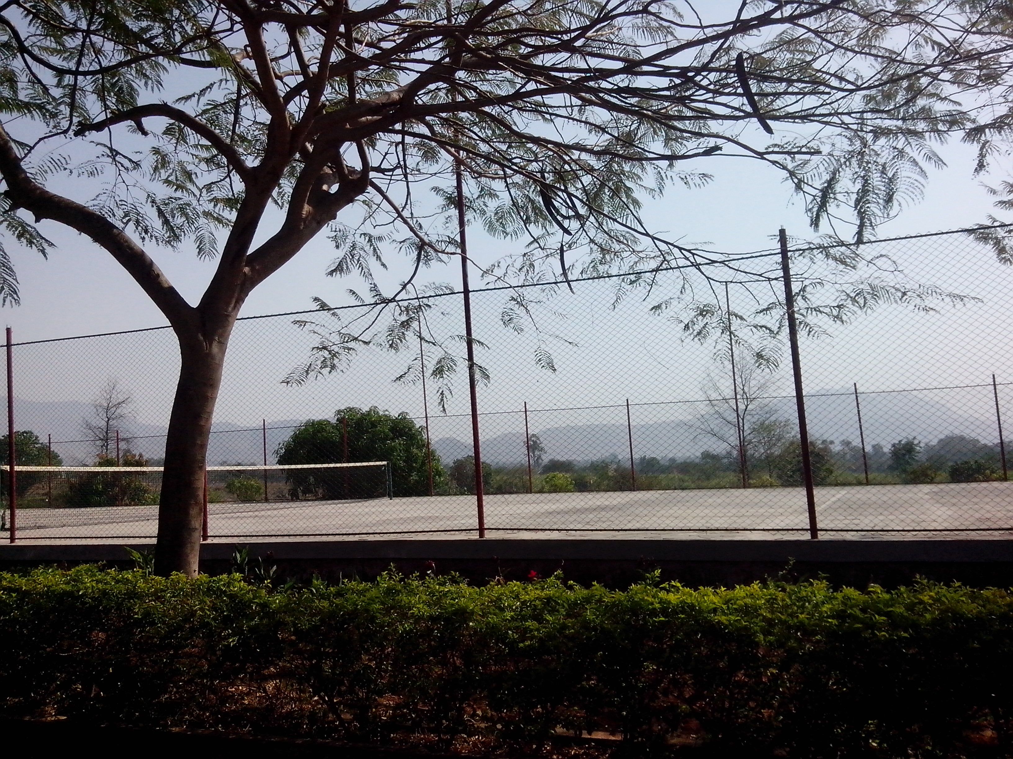 Tennis Court inside the Training Center